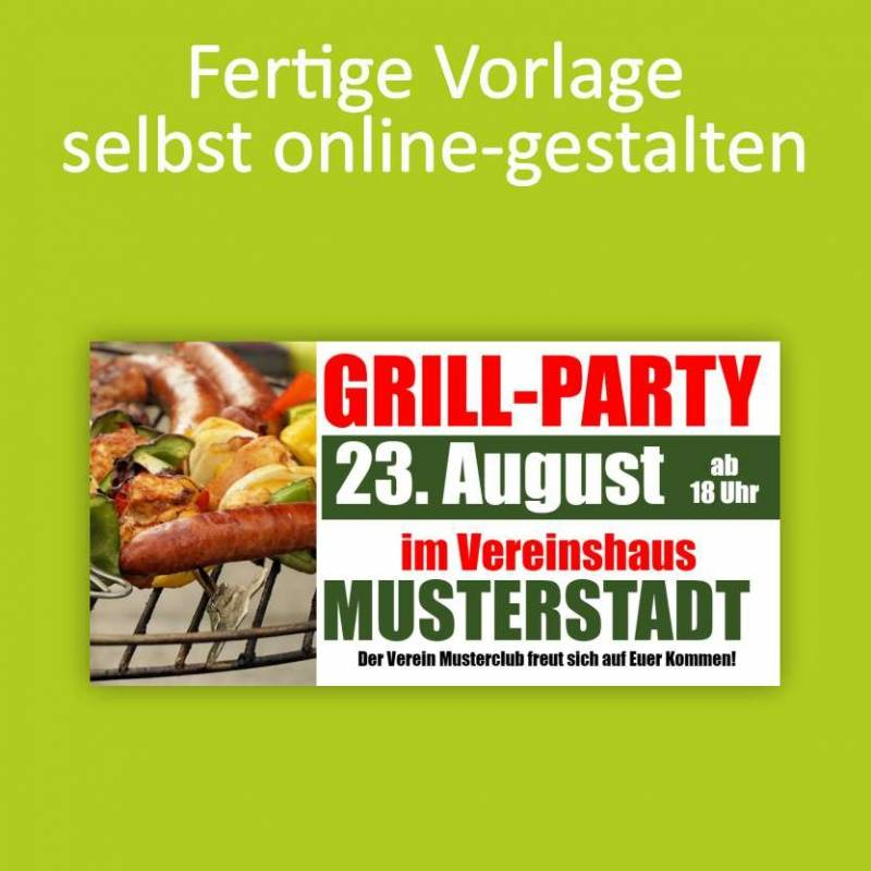 "Banner ""Grillparty"" 2x1m"