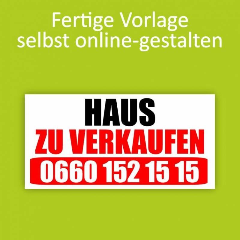 """Banner """"Haus zu verkaufen""""..."""