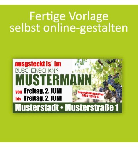 Banner online bestellen, Banner online gestalten, Transparente online bestellen, Transparente online gestalten, Heurigen