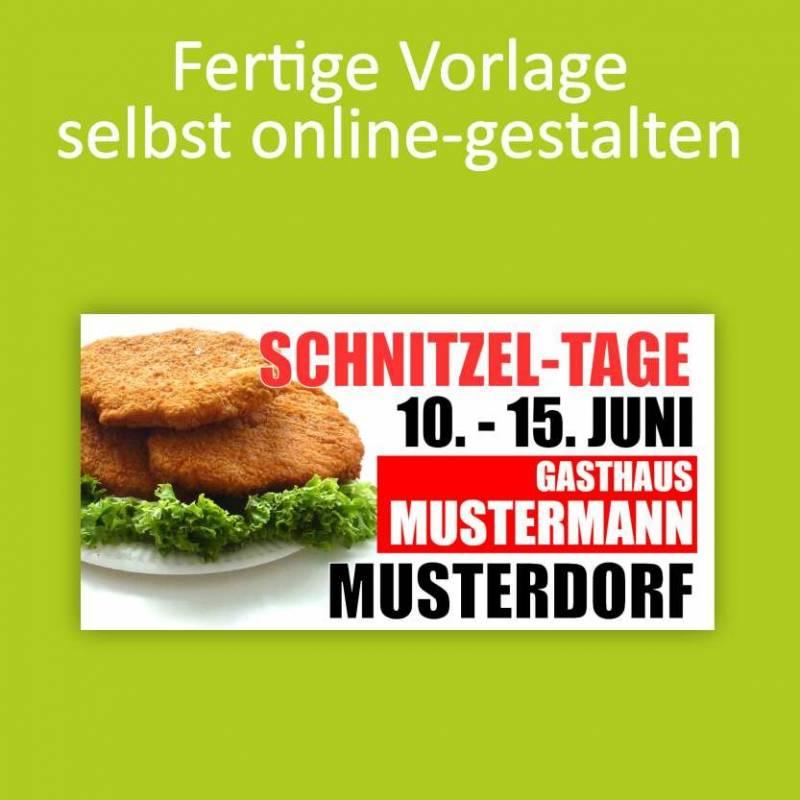 """Banner """"Schnitzeltage"""" 2x1m"""