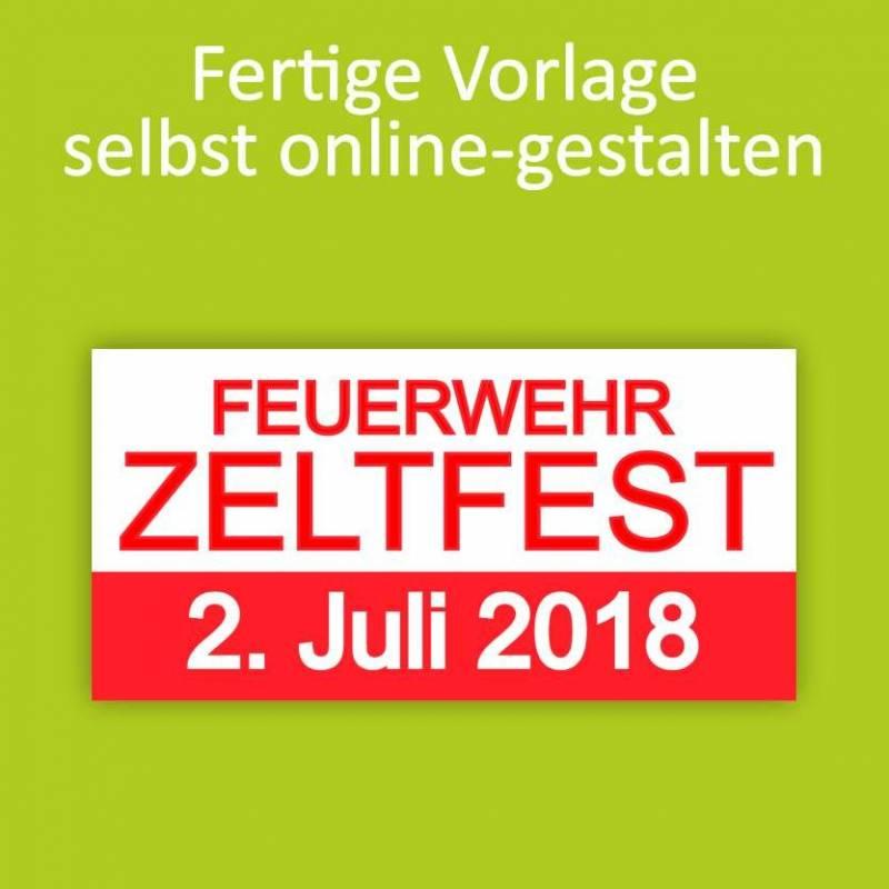 """Banner """"Zeltfest"""" 2x1m"""