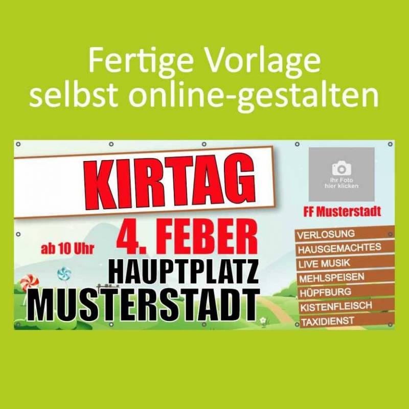 """Banner """"Kirtag"""" 2x1m"""