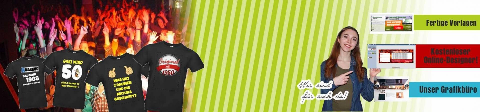 Individuelle Geburtstagsshirts online bestellen ... GRATIS VERSAND