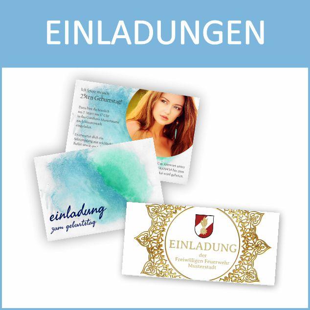 Einladungen online bestellen